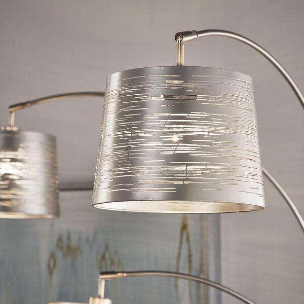 Mori Polished Nickel Three-Light Tree Floor Lamp, image 3